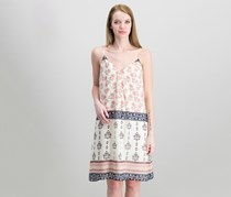 Vince Camuto Printed Slip Dress, Ecru Cloud
