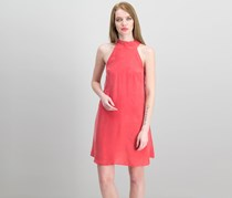 1.State Women's Mock-Neck Shift Dress, Dark Coral Reef