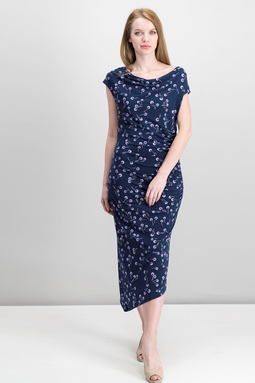 Asymmetrical Midi Dress, High Tide