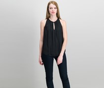Vince Camuto Sleeveless Keyhole Top, Rich Black