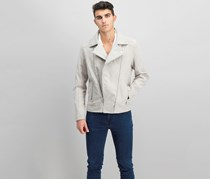 Bershka Men's Spread Collar Jacket, Beige