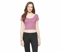 Mossimo Supply Co. Crop Ballet Tee, Purple Pepper