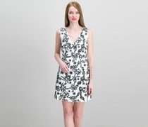 Rachel Zoe Shari Cotton Embroidered Dress, Black/White