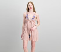 Lovers Cove Embroidered Dress, Dusty Mauve