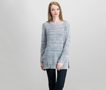 Eileen Fisher Organic Linen Crew-Neck Sweater, Dark Pearl