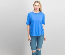 Eileen Fisher Organic Cotton Elbow-Sleeve Top, Bluebell