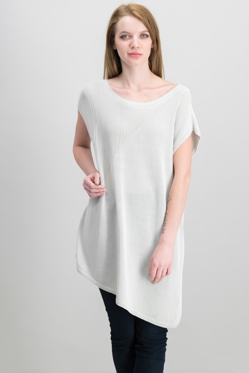 Asymmetrical-Hem Tunic, Bone