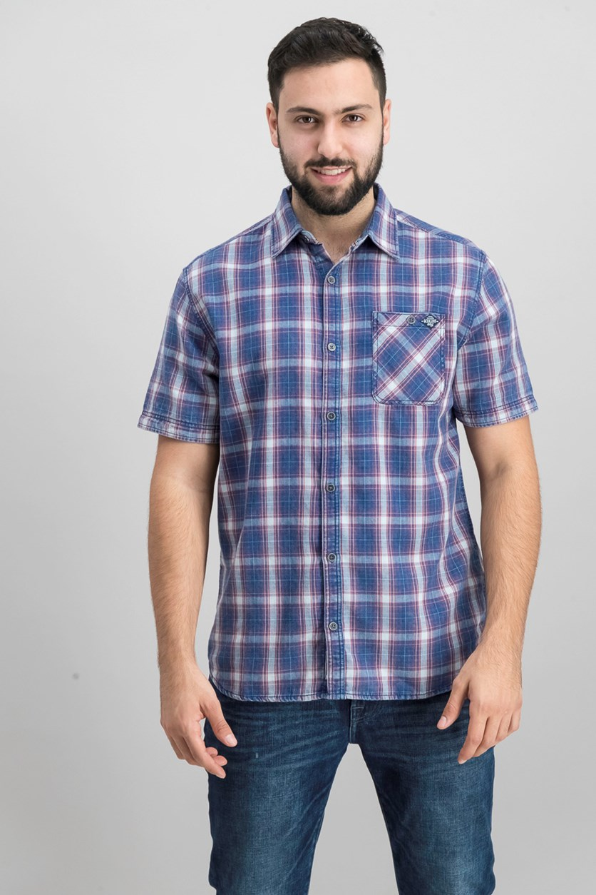 Lacinia Short Sleeve Shirt, Blue Combo