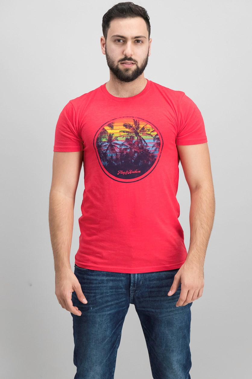 Men's Miami Tee, Red Heather