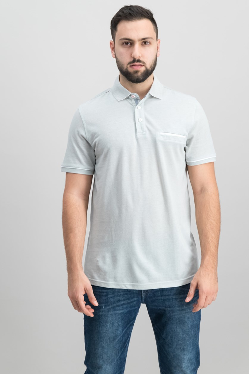 Mens Slim-Fit Polo, Gray