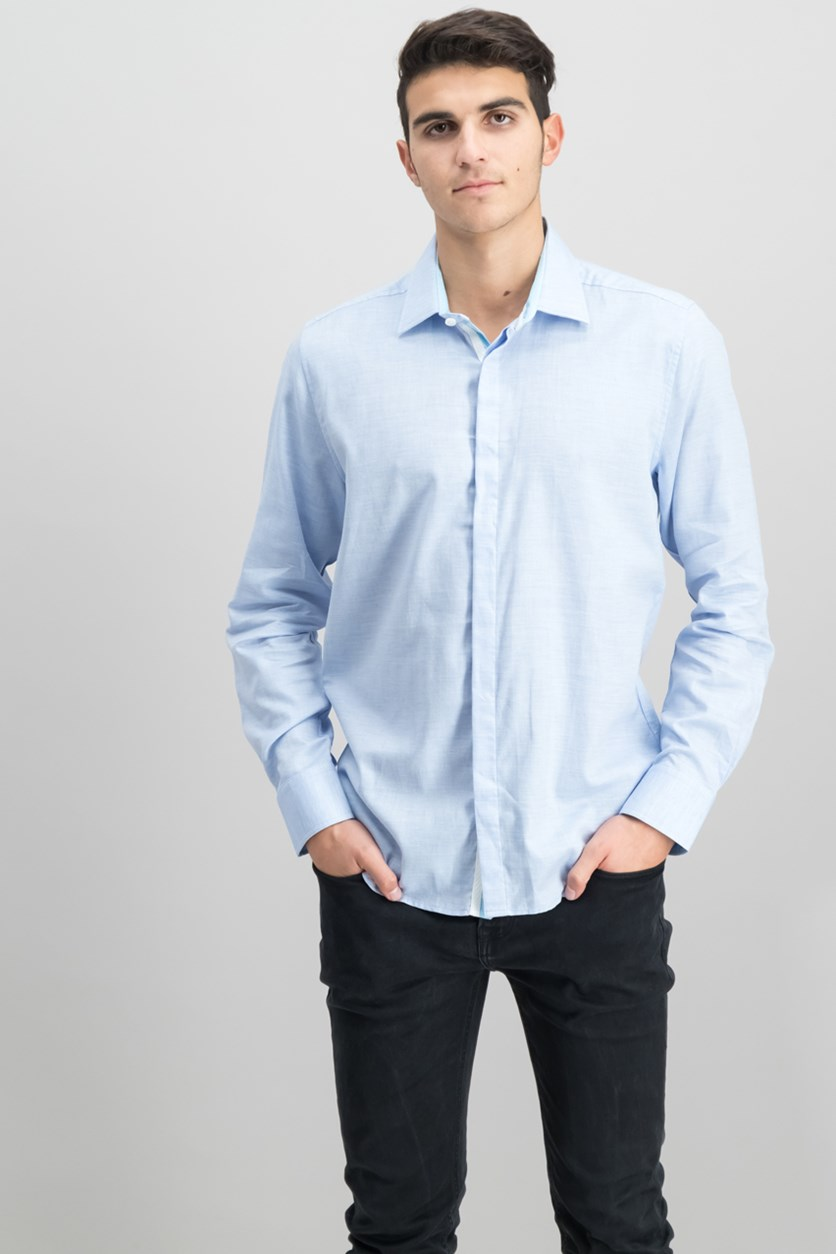 Men's Slim-Fit Sport Shirt, Blue