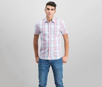 Ryan Seacrest Distinction Mens Slim-Fit Plaid Shirt, Pink/Blue