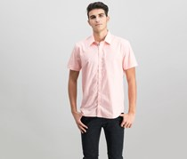 Ryan Seacrest Distinction Men's Slim-Fit Geometric-Print Sport Shirt, Pastel Pink