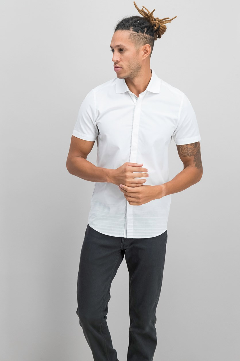 Men's Sport Shirt, White Degrade