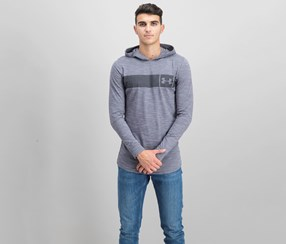 Men's Sportstyle Charged Cotton Hoodie Sweaters, Gray