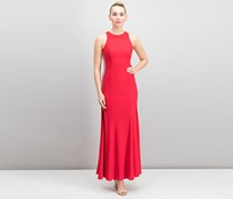 Xscape Beaded Cutout-Side Gown, Rust Red