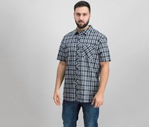 Hurley Mens Hayden Plaid Shirt, Black
