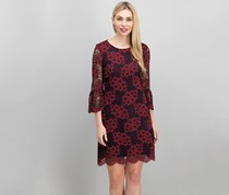 Tommy Hilfiger Lace Bell-Sleeve a-Line Dress, Red