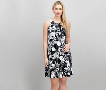 Tommy Hilfiger Women's Printed Dress, Black/White