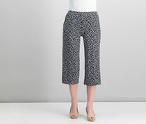 Michael Kors Printed Culotte Pants, White/Black