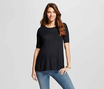 Maternity Pullover Top, Ebony