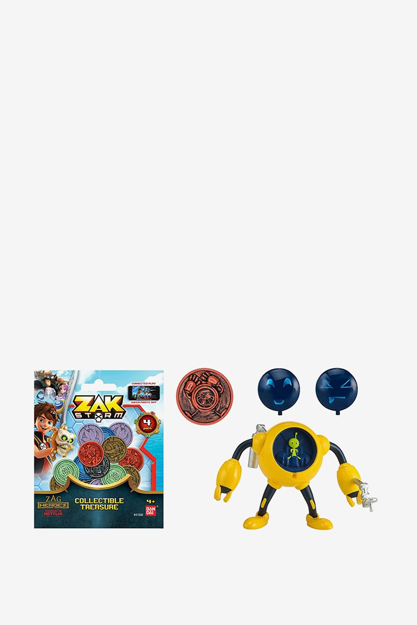 Bandai Zak Storm Caramba 3-inch Scale Action Figure with Blind Bag, Yellow