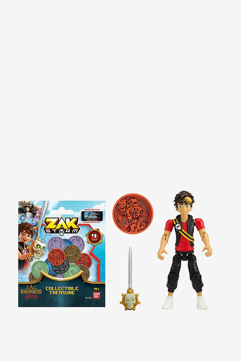 Zak Storm Zak 3-inch Scale Action Figure with Blind Bag, Black Combo