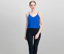 Mossimo Textured Sleeveless Crop Top, Blue
