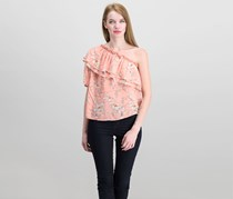 A New Day Floral Print Top, Pink