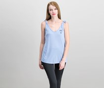 Xhilaration Graphic Tops, Shimmering Blue