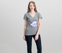 Rivalry Threads 91 Women's Graphic Tee, Grey Heather