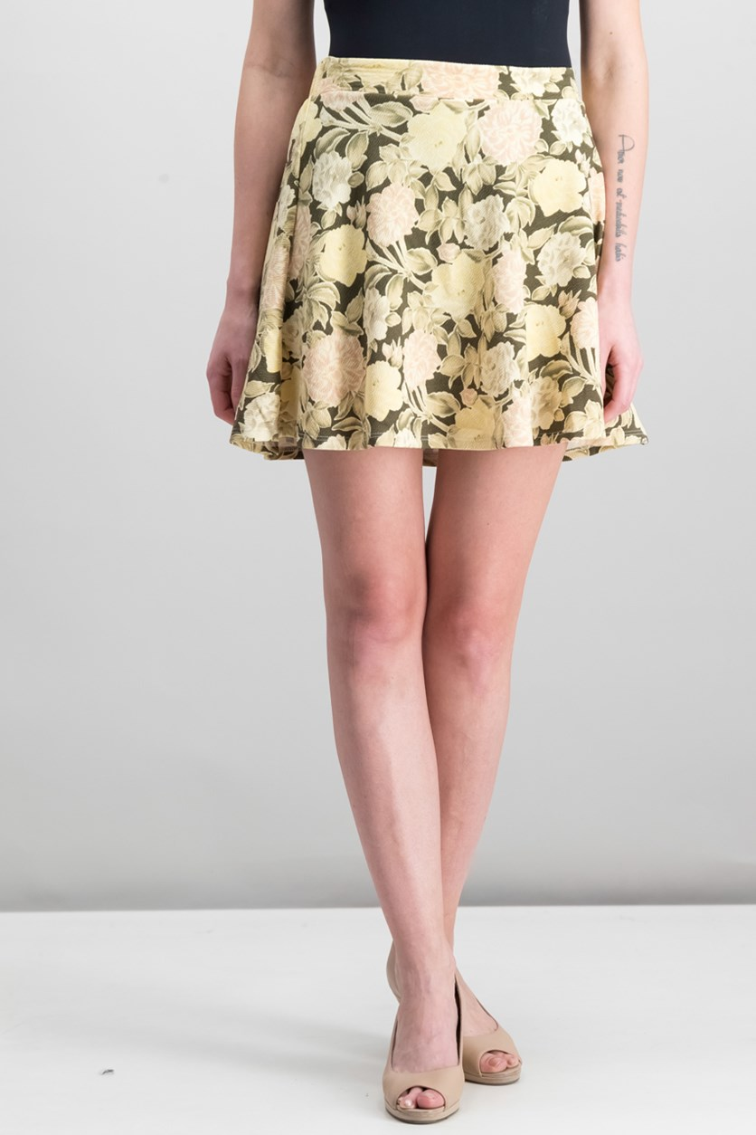 Women's Printed Skirt, Beige