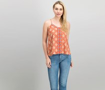 Xhilaration Women's Sleeveless Top, Cayenne/Rust