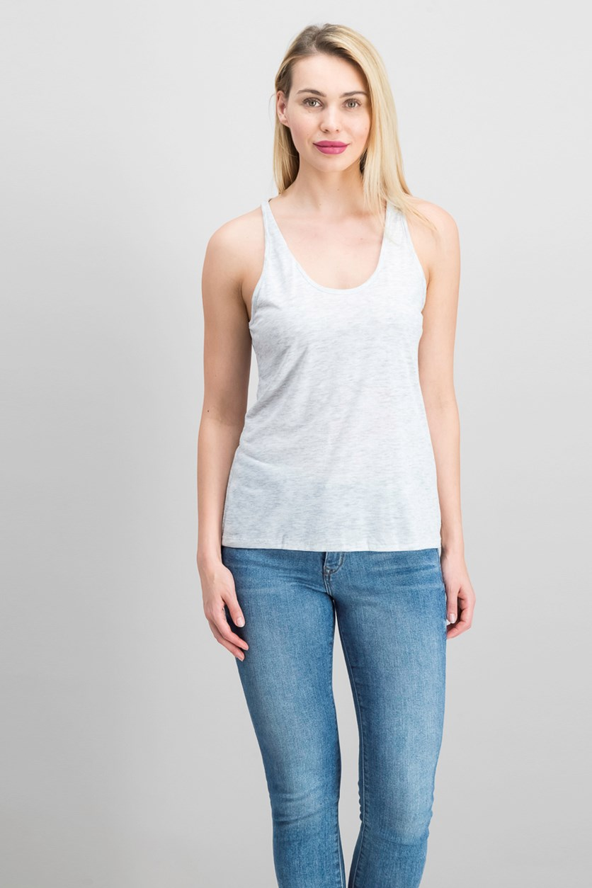 Burnout Tank, Grey Heather