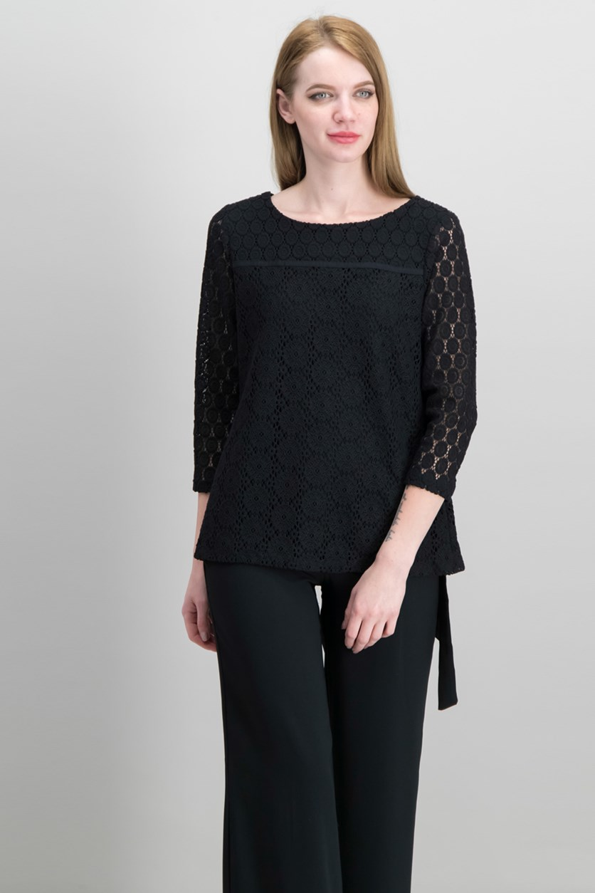 Lace Top, Deep Black