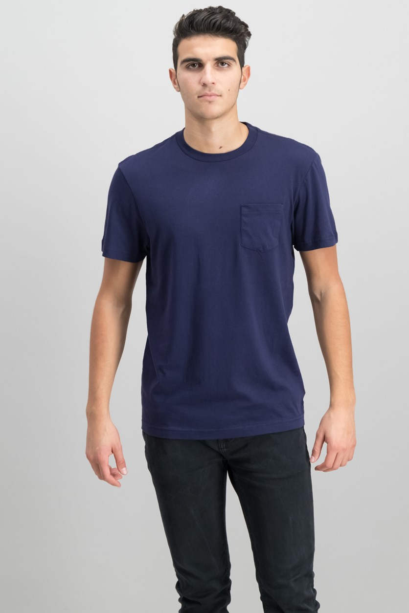 Mens Pocket T-Shirt, Navy Blue