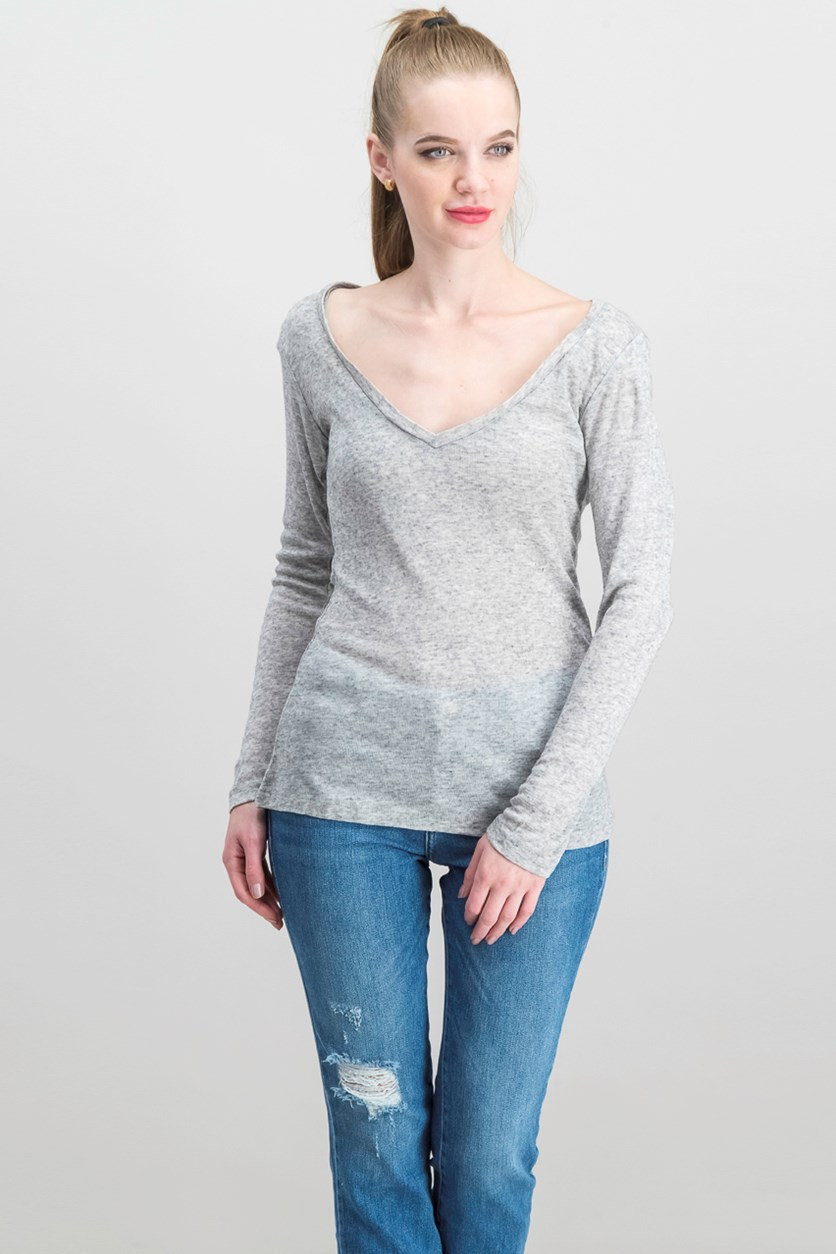 Women's The Label Privilege Express Top, Gray Combo