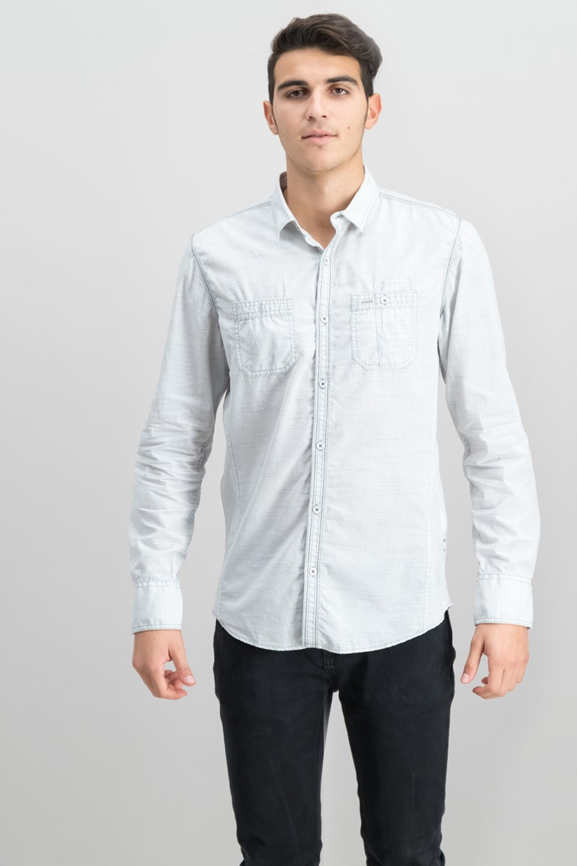International Concepts Work Striped Shirt, White Combo