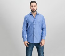 Tasso Elba Mens Check Shirt, Blue Combo