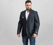International Concepts Mens Slim-Fit Embellished Blazer,  Deep Black