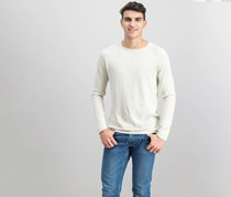 Bershka Men's Long Sleeve Pullover Sweaters, Beige/Grey