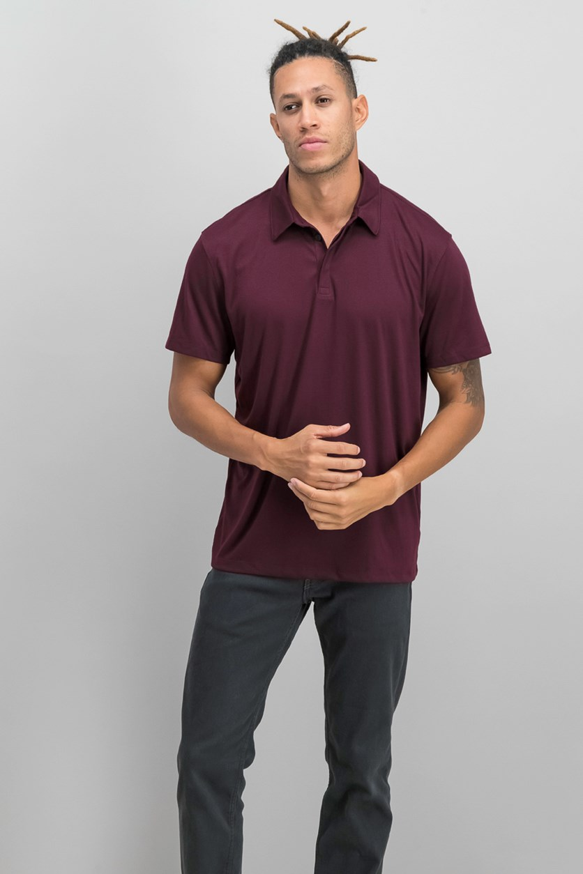 Men's Soft Touch Stretch Polo, Port