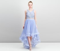 Say Yes to the Dress Prom Juniors High-Low Popover Gown, Dusty Periwinkle