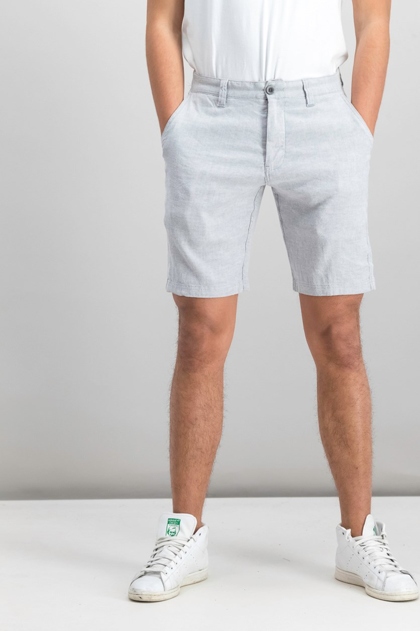 Beach Linen-Blend 10 Shorts, Storm Gray