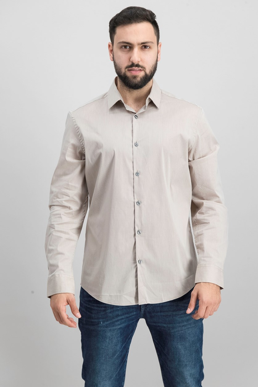 Mens Modern Striped Shirt, Sandstorm Cliff