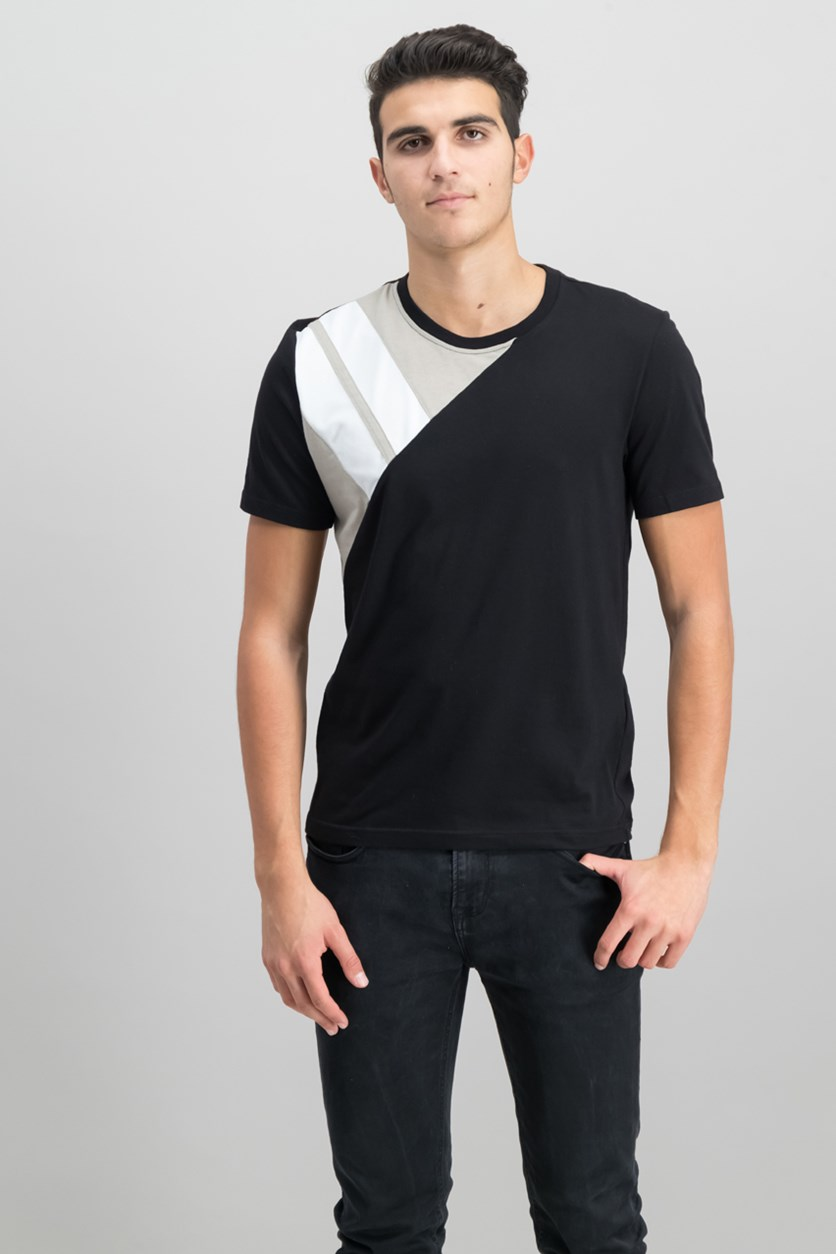 International Concepts Men's Pieced T-Shirt, Deep Black