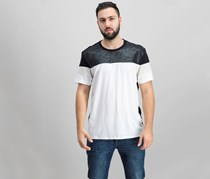 INC International Concepts Men's Colorblocked T-Shirt, Black/White