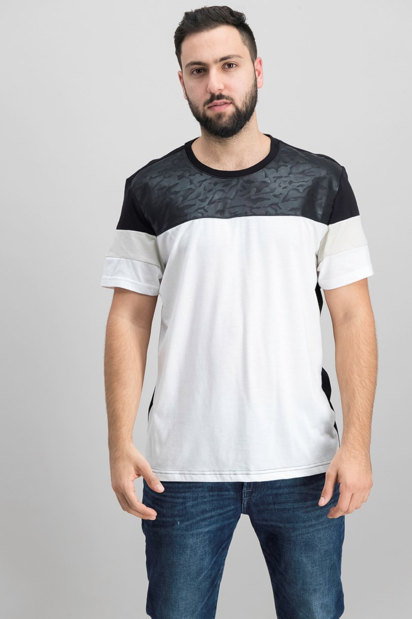 International Concepts Men's Colorblocked T-Shirt, Black/White
