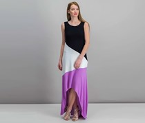 INC Colorblocked High-Low Maxi Dress, Orchid Pop