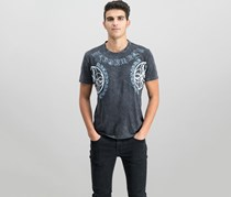 INC International Concepts Mens Graphic-Print T-Shirt, Deep Black
